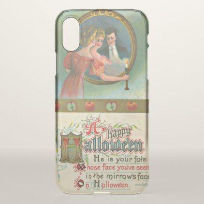 Vintage Halloween Romantic Humor iPhone X Case - humor funny fun humour humorous gift idea