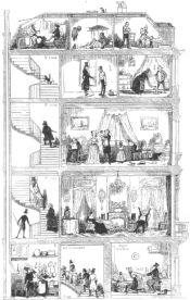 Coupe d'une maison parisienne by Bertall (1845)