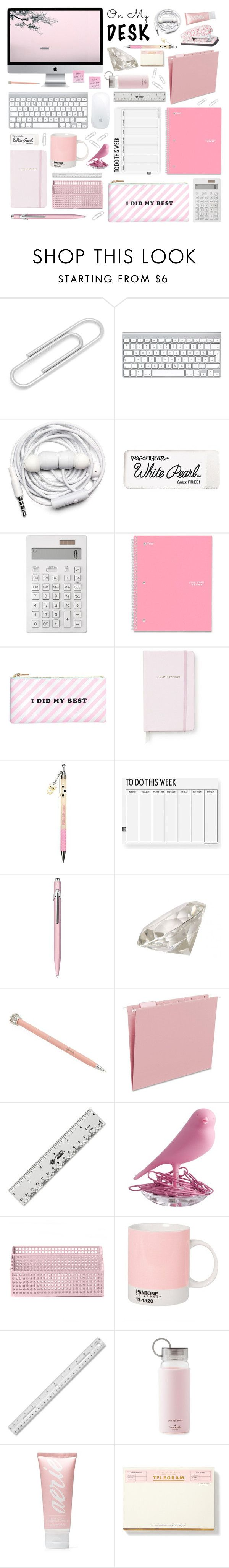 """On My Desk"" by cara-mia-mon-cher on Polyvore featuring interior, interiors, interior design, home, home decor, interior decorating, Ox & Bull Trading Co., Urbanears, Paper Mate and Seed Design"
