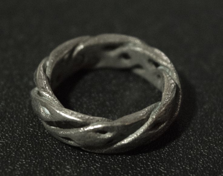 3D Printed Ring, Stainless Steel #jewellery #3DPrinted