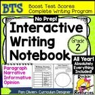 Interactive Writing Notebook Grade 2 with ALL Common Core Writing Standards