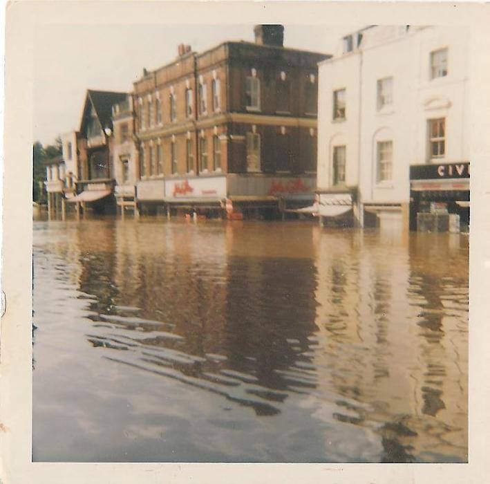 High Street and Friary Street 1968 floods