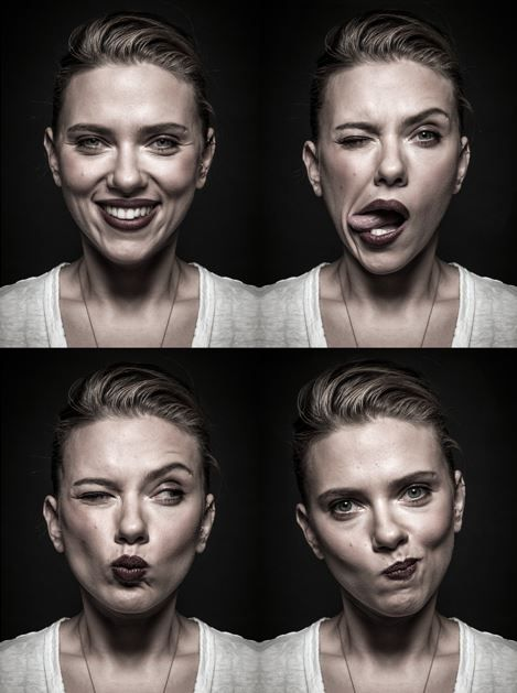 Scarlett Johansson portrait by Andy gotts - A Great portrait that shows pure human feelings in face