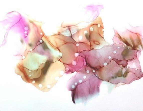 Flow Paint Art, Fluid Art Print, Abstract Wall Art, Original Alcohol Ink Art, 20 x 28 Print, Living Room Wall Decor, Feminine Artwork