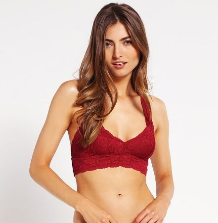 Free People GALLOON koronkowy Biustonosz bustier ruby red