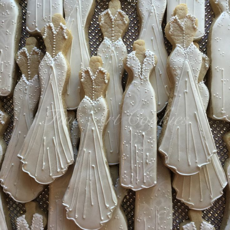 Wedding Dress Cookies: 25+ Best Ideas About Decorated Wedding Cookies On