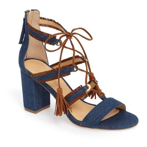 Women's Daya By Zendaya Meadow Ghillie Fringe Sandal ($90) ❤ liked on Polyvore featuring shoes, sandals, crisscross shoes, tall shoes, tassel shoes, tall fringe sandals and caged shoes
