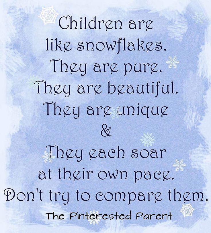 Children are like snowflakes . They are beautiful. They are unique. Quotes on children, parenthood, motherhood by The Pinterested Parent