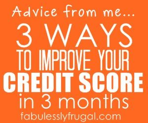 3 easy tips you can do right now to start improving your credit score!