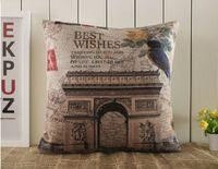 Américain Pastorale perroquet et L'arc de Triomphe Housse de Coussin en coton taie d'oreiller pour le bureau Décoration De la maison canapé coussin 1 pcs