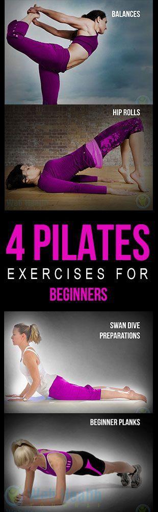 4 #Pilates exercises for beginners.