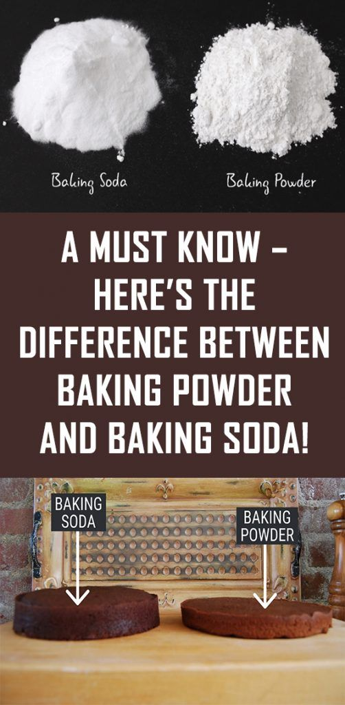 A Must Know – Here's The Difference Between Baking Powder and Baking Soda!