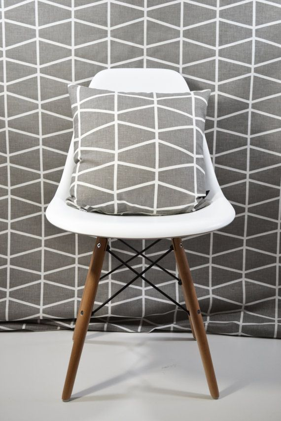 Elegant Swedish Scandinavian Geometric Fabric Per Metre By Andshine