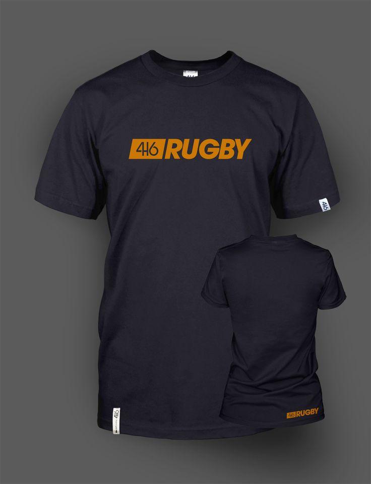 T-shirt adulte 416 rugby - Orange Line