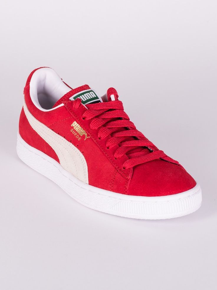 WOMENS SUEDE CLASSIC - RED/WHITE | Canadian Footwear, Sneakers, Boots, Shoes, and Sale at Blackwell Shoes Canada