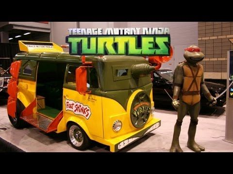 Real Life TMNT Van! & Teenage Mutant Ninja Turtles 2012 Review! TEENAGE MUTANT NINJA TURTLE VAN , PARTY WAGON, TURTLE VAN, NINJA TURTLES, TMNT,  TMNT VAN, TMNTVAN.COM