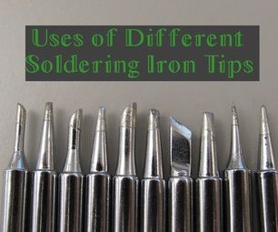 Ever wondered how to use all those different soldering tips? This instructable can help!