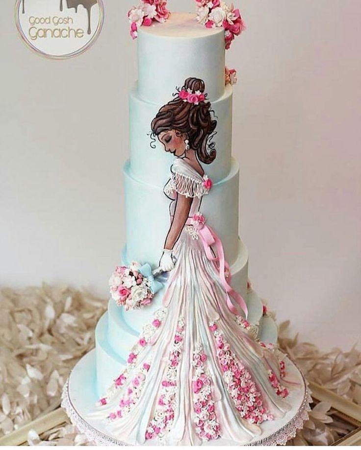 """5,321 curtidas, 33 comentários - @cassianedorigon (@ideiasdebolosefestas) no Instagram: """"É muito lindo... Por @twisted_cakes_south_america. #ideiasdebolosefestas #casamento #wedding #noiva…"""""""
