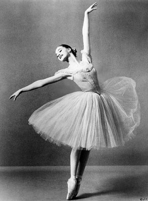 Suzanne Farrell (born 8/16/1945) is an eminent ballerina (often referred to as the greatest American lyric ballerina) and the founder of the Suzanne Farrell Ballet at the Kennedy Center in Washington, D.C. She was born  Roberta Sue Ficker in Cincinnati and received her early training at the Cincinnati Conservatory of Music. In 1960 she was selected to study at George Balanchine's School of American Ballet with a Ford Foundation scholarship in 1960 and joined the New York City Ballet in 1961.