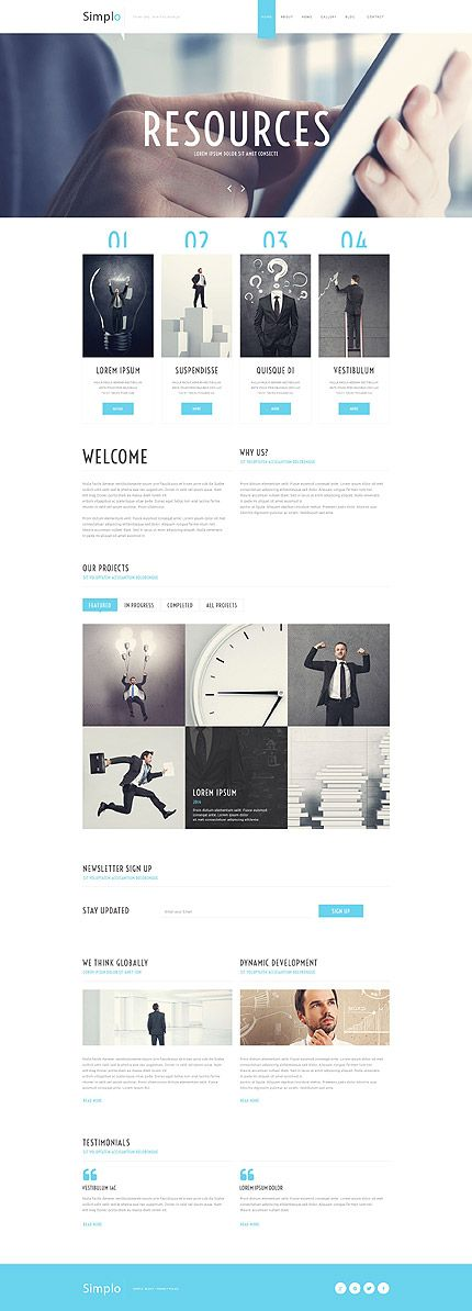 Template 55588 - Simplo Business  Responsive Website Template