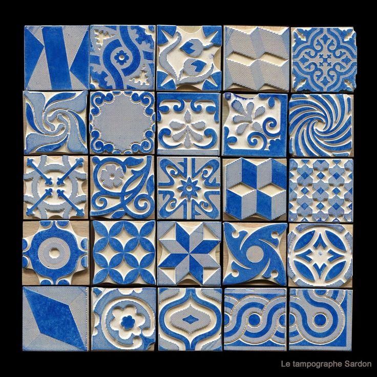 des tampons comme des carreaux de céramique http://le-tampographe-sardon.blogspot.fr/