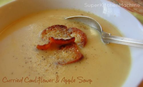 Curried Cauliflower and Apple Thermomix Soup (includes a link to a youtube clip for the TMX Tikka paste used in Salmon Tikka)