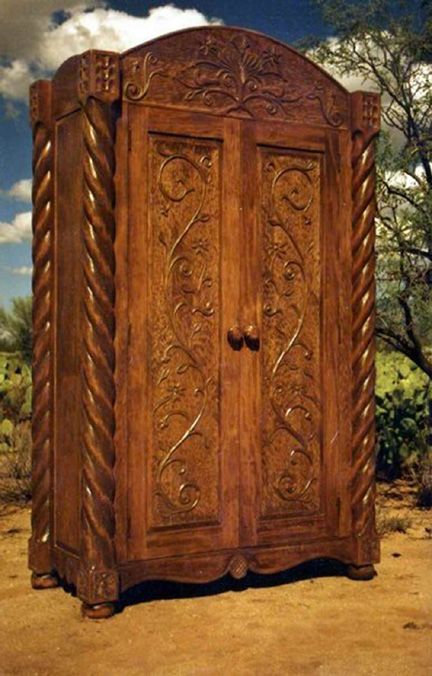 Governor Armoire, Custom Made By Southwest Furniture U0026 Design. ::: Secret  Passage Behind It That Leads To A Courtyard? Made To Your Specifications.