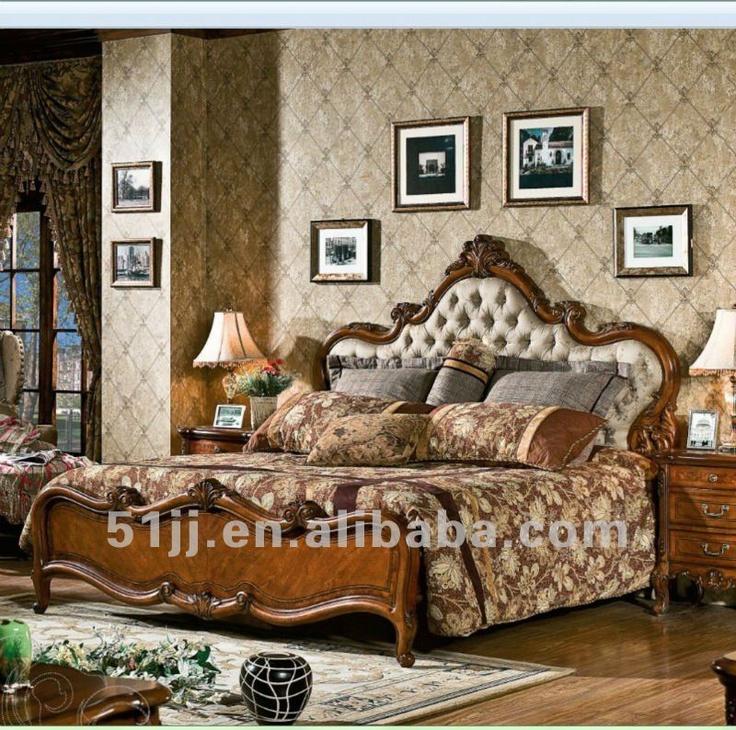 Estilo americano antigo marrom café cor de madeira mobília do quarto omj-898-01a - portuguese.alibaba.com