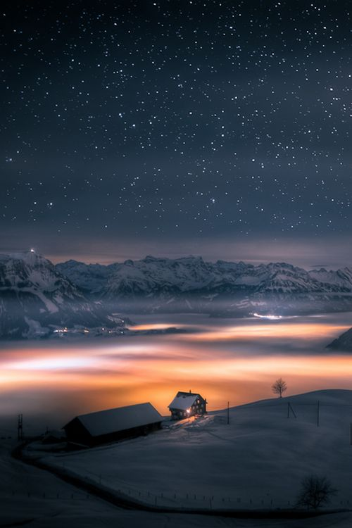 house above the clouds...by David Kaplan