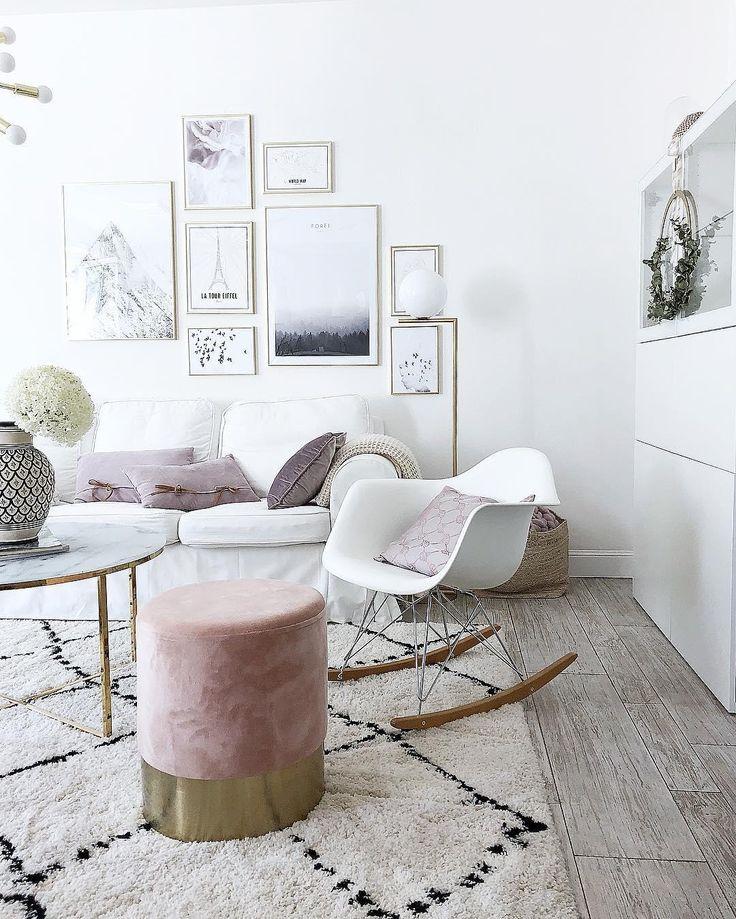 Samt hocker harlow wohnzimmer pinterest skandinavisches wohnzimmer feinschliff und butiksofie - Bilderwand skandinavisch ...