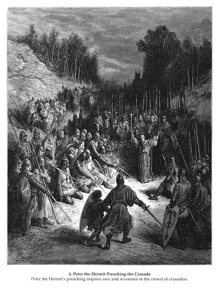 Peter+the+Hermit+Preaching+the+Crusade+-+Gustave+Dore