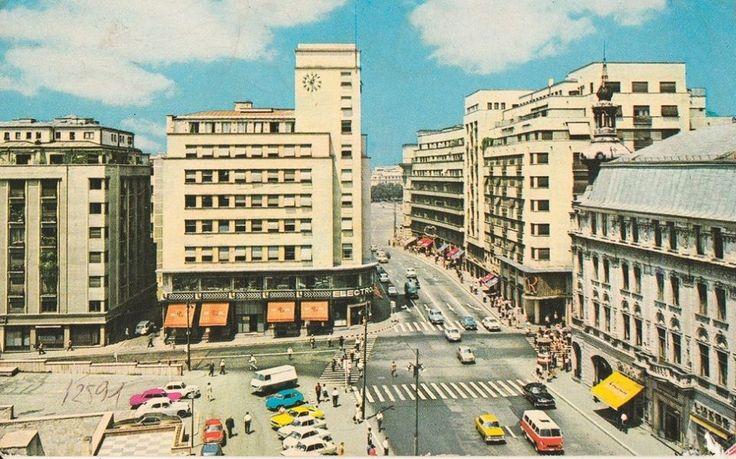 Cal Victoriei intersectia cu Ion Campineanu (fost 13 Decembrie) in 1970