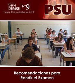 Recomendaciones de Rendición PSU