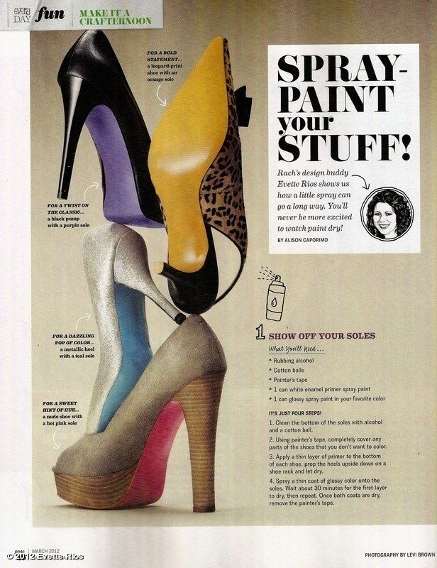 Or, if that doesn't suit your fancy, you can paint the soles.