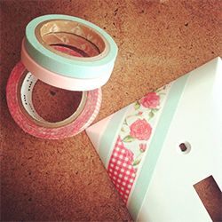 Easy Washi Tape Light Switch Cover