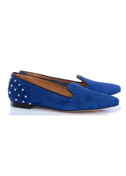 Slippers cloutées Bleu roi by SANDRO