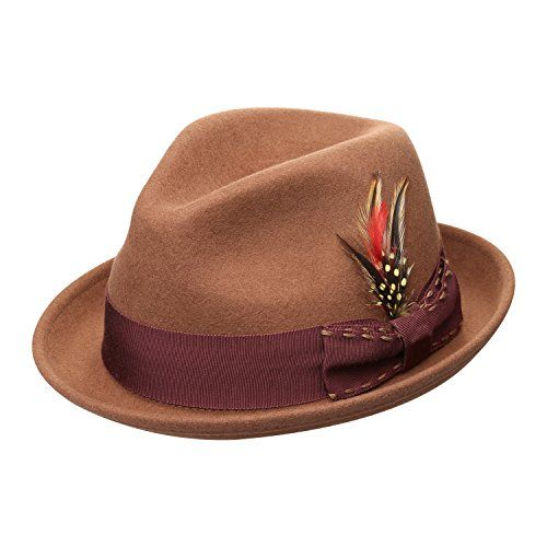 b1b1cc1f5a2b98 Janetshats Wool StainResistant Crush Fedora Handmade Stitching Feather Bow  Hat -- Continue to the product at the image link. (This is an affiliate  link)