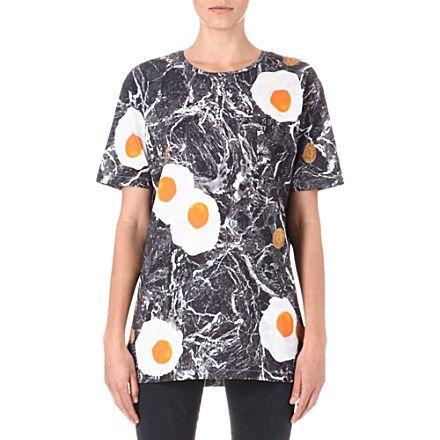 ANNA LOMAX Egg-print t-shirt (Multi-coloured
