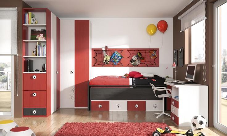 Habitación infantil temática fútbol 8 - Bilbao