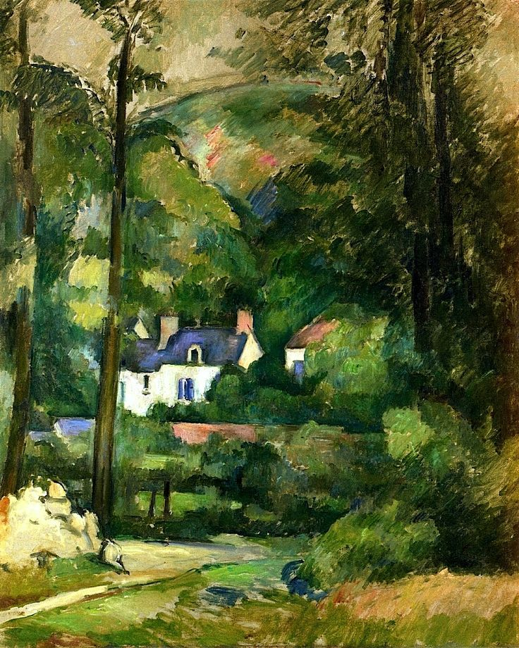 Paul Cezanne (Born (1839-1906) Provence, France   Houses in the Greenery