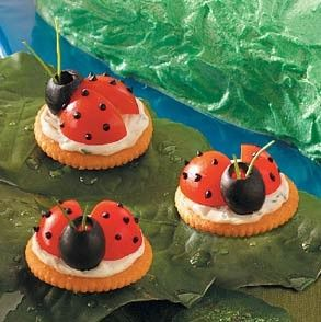 Lady Bug crackers for Garden Party