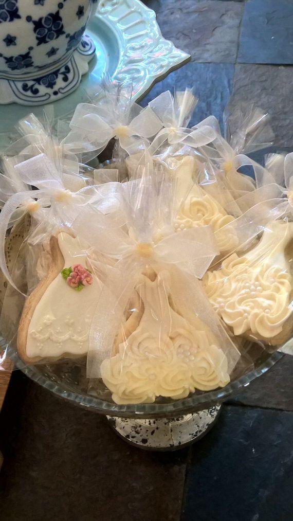 18 Pieces Petite Sized Wedding Dress Cookies - Cookie Favors, Wedding Cookies…