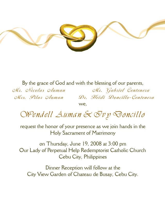 Wedding Invitation Letter Weddin Invitation Card Pinterest