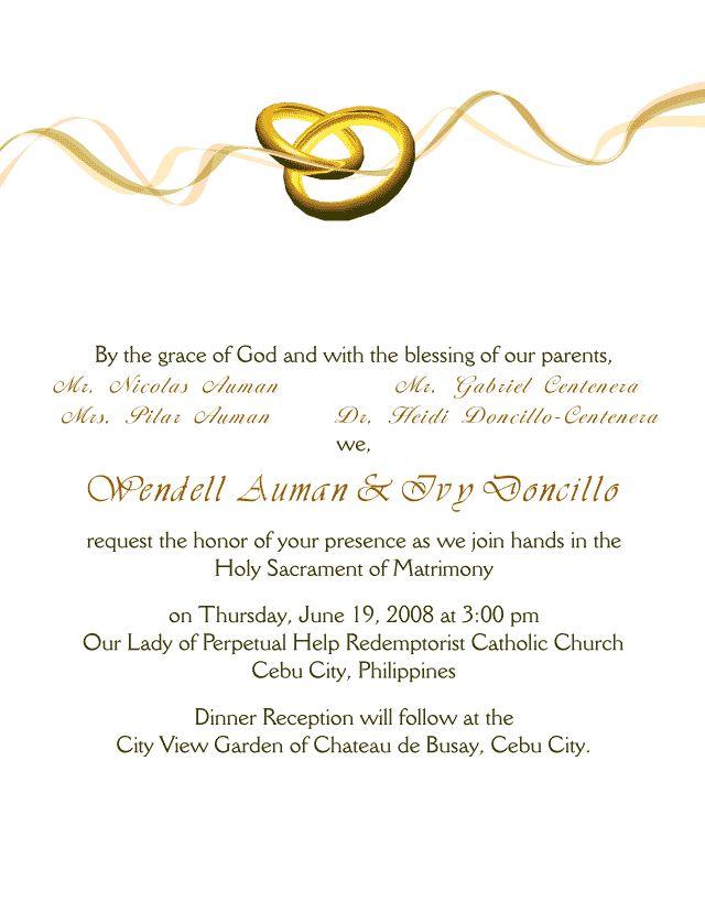 35 best Wedding invitation wording` images on Pinterest