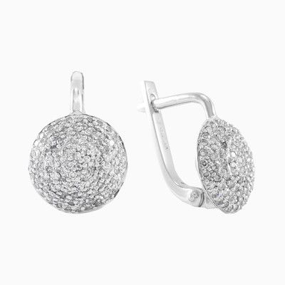 Simple, stylish and romantic design of earrings in 18k white gold with diamonds, total weight 0.71ct, that simply dazzle the radiance of diamonds.