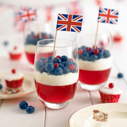 Jubilee Jellies - I'd make these as mini cheese cakes instead :)