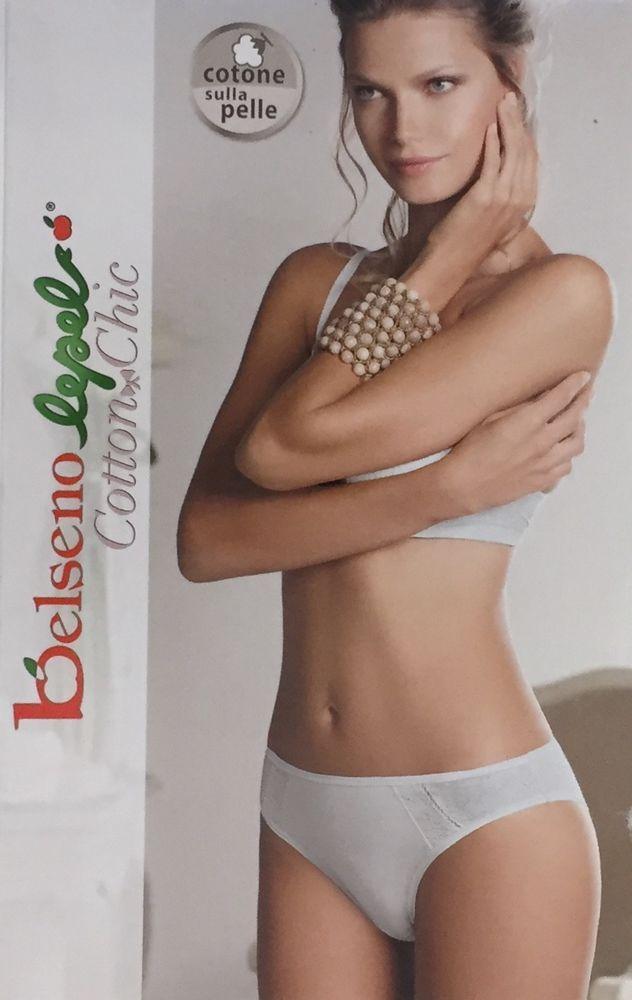 6 Slip donna Jadea tutto pizzo con pannello doppiato in cotone frontale art P100