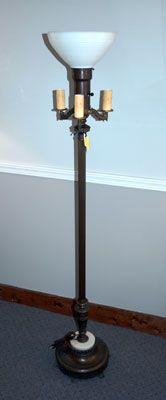 Antique Style Floor Lamps Four Bulb Antique Floor Lamp