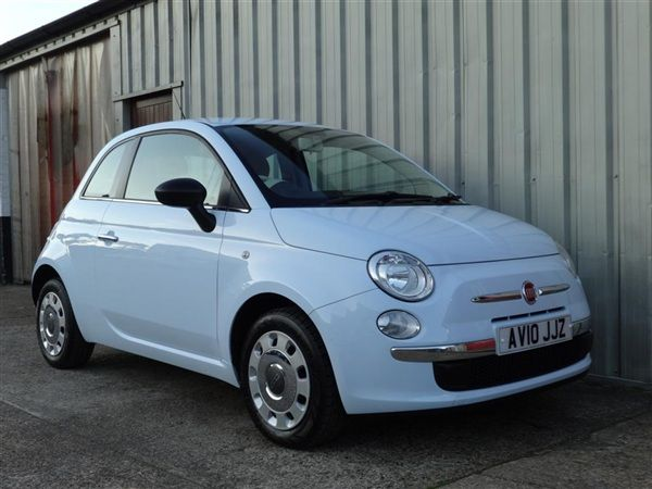 Used 2010 Fiat 500 1.2 Pop in BLUE for sale in Thetford for £5,495