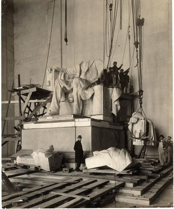 Construcción del Lincoln Memorial